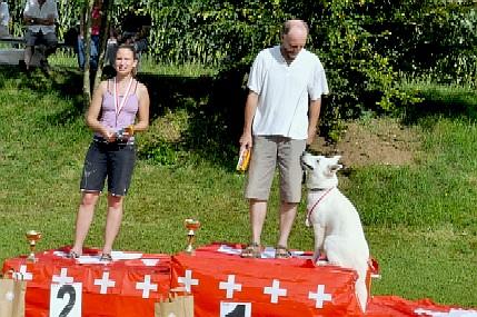 I. Anja mit Kurt Bischofberger 2.Amira mit Janine Eigenmann