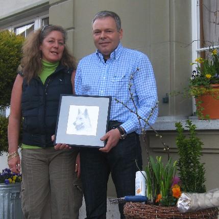 Die neuen Ehrenmitglieder Romi L'Eplattenier und Bruno Steffen: